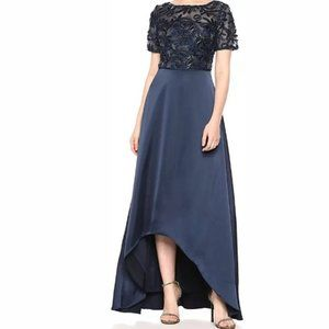 NWT Adrianna Papell Women's Soutache Long Dress